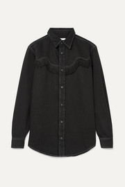 Kress fringed denim shirt