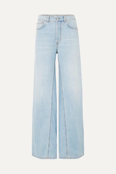 Sheldon High-Rise Wide-Leg Jeans in Light Denim