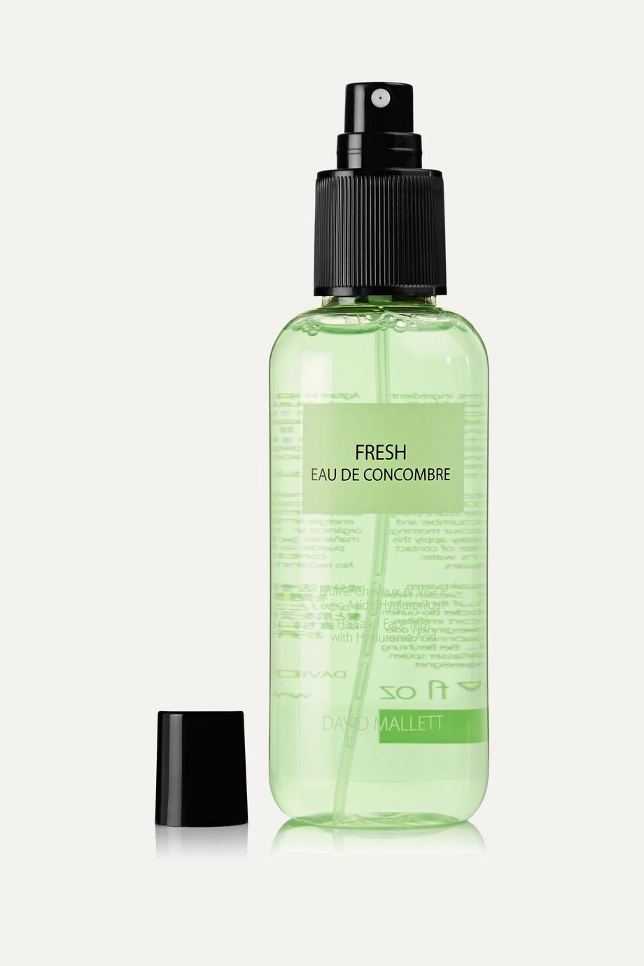David Mallett Fresh Eau de Concombre, 150 ml – Erfrischungsspray fürs Haar