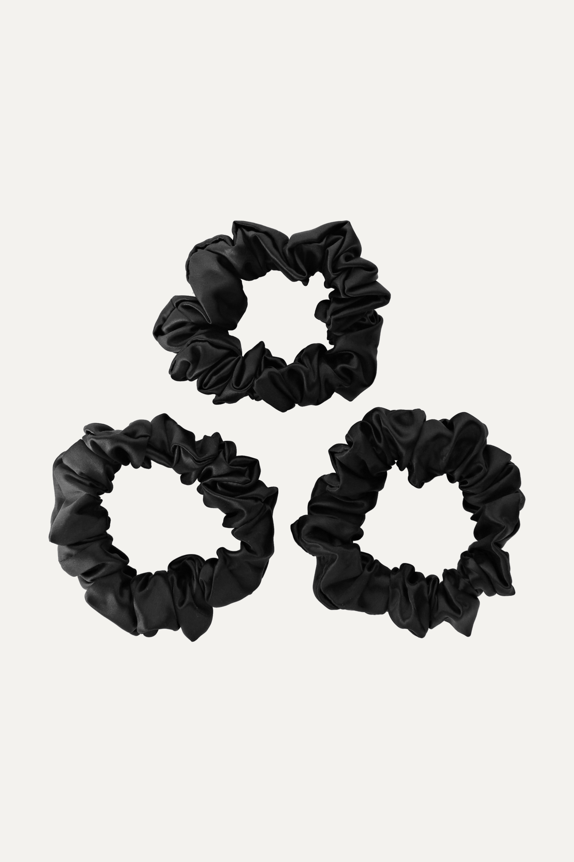 Slip Set aus 3 Haargummis aus Seide