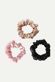 Set of 3 silk hair ties