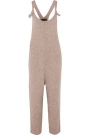 The Knit wool-blend overalls