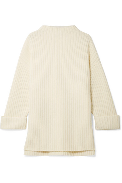 HATCH The Cabin Ribbed Wool-Blend Sweater in Ivory