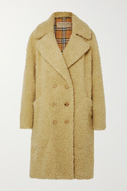 Burberry Oversized double-breasted wool-blend faux shearling coat