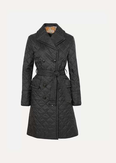 The Horberie quilted shell trench coat