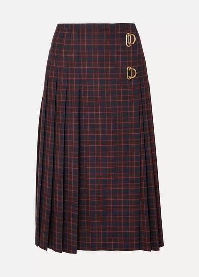 947c3ebf8e Burberry | Pleated checked wool skirt | NET-A-PORTER.COM