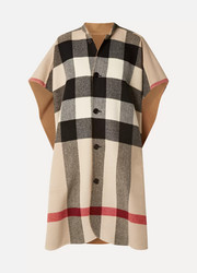 Burberry Reversible checked wool-blend cape