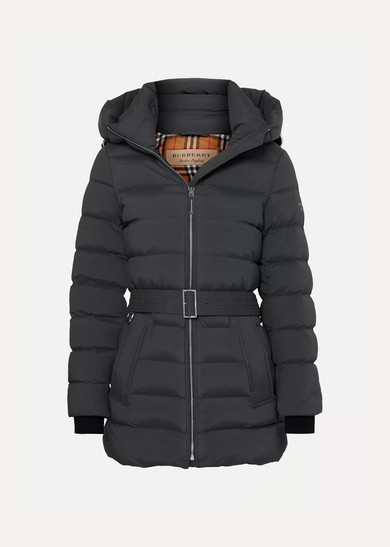 Limehouse Mid Length Down Puffer Coat in Gray