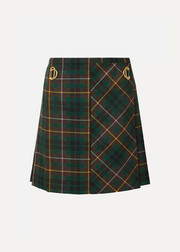 Burberry Pleated tartan wool mini skirt