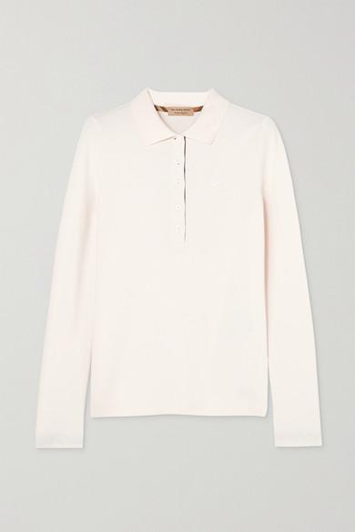 Burberry Shirts Zulia embroidered cotton-piqué polo shirt