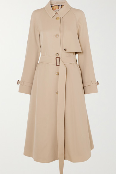 The Cinderford Wool Gabardine Trench Coat by Burberry
