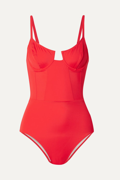 + RE/DONE The Hollywood underwired swimsuit