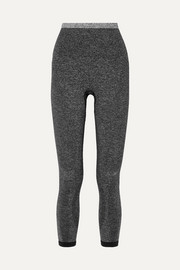 Tone cropped stretch-knit leggings