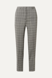 Colin checked wool slim-leg pants