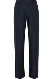 Stine Goya Daria striped satin-jacquard straight-leg pants