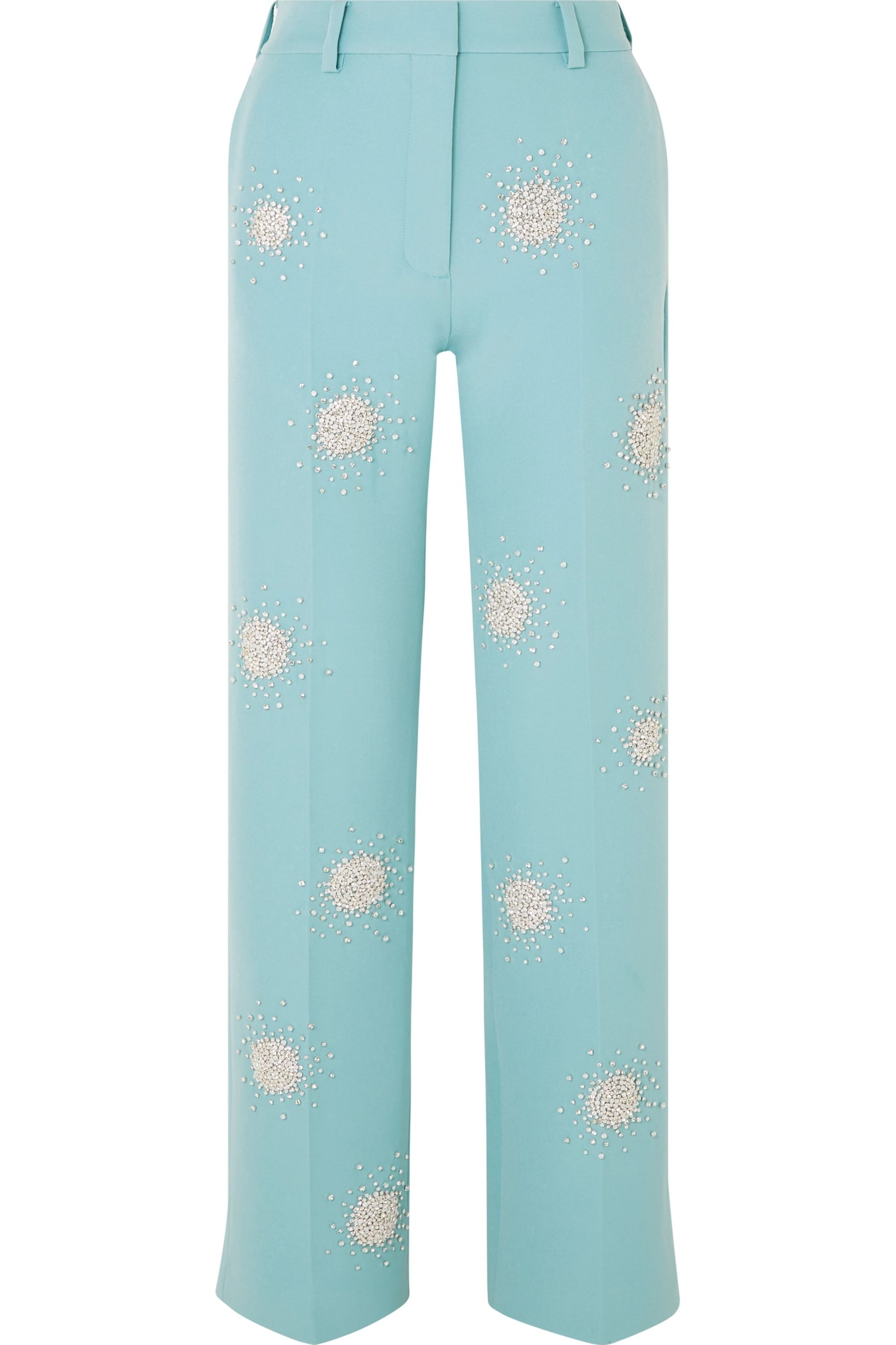 Stine Goya Marcel crystal-embellished cady straight-leg pants