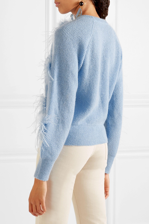 Stine Goya Candice feather-embellished knitted sweater