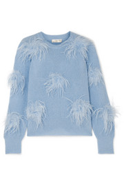 Stine Goya Candice feather-embellished knitted sweater