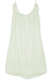 Three Graces London Nightingale ruffled cotton-voile nightdress