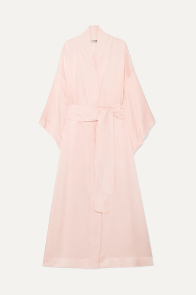 Mirabelle Silk Habotai Robe by Three Graces London