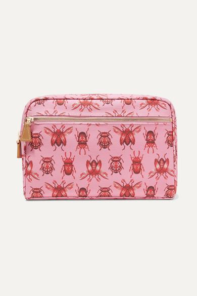 AERIN BEAUTY + Johanna Ortiz Medium Printed Canvas Cosmetic Case - Pink