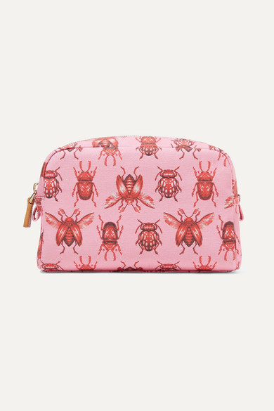 AERIN BEAUTY + Johanna Ortiz Small Printed Canvas Cosmetic Case - Pink