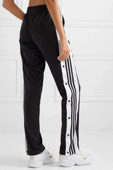 63ba13c0d8e0 adidas Originals | Adibreak striped satin-jersey track pants | NET-A ...