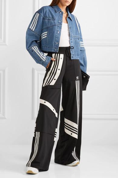 + Daniëlle Cathari oversized snap embellished patchwork denim jacket