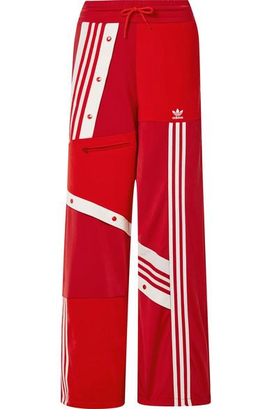 + Daniëlle Cathari snap embellished patchwork jersey track pants