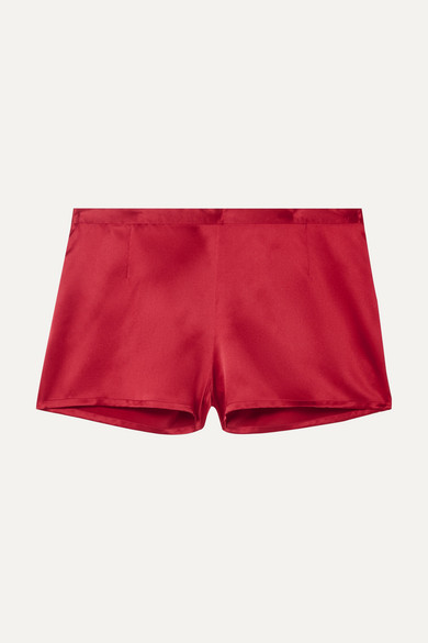 Carmine Silk Satin Pajama Shorts by La Perla