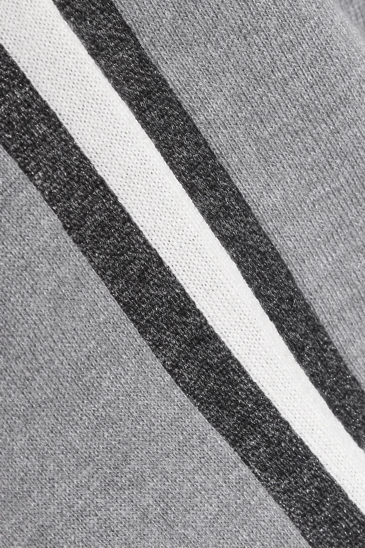Olivia von Halle Missy London 条纹真丝羊绒混纺卫衣休闲裤套装