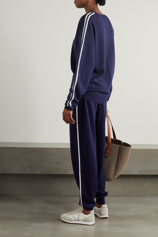 Olivia von Halle Missy Paris 条纹真丝混纺卫衣休闲裤套装