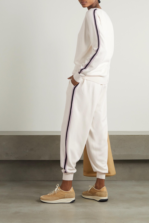 Olivia von Halle Missy Moscow 条纹真丝羊绒混纺卫衣休闲裤套装