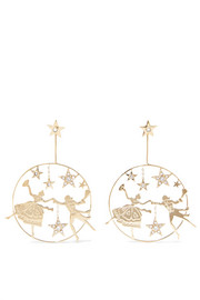 Etro Gold-tone crystal earrings