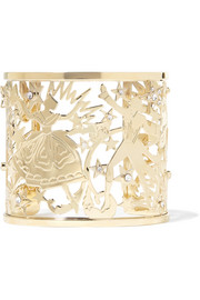 Gold-tone crystal cuff