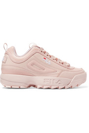 FILA Disruptor II Premium logo-embroidered leather sneakers