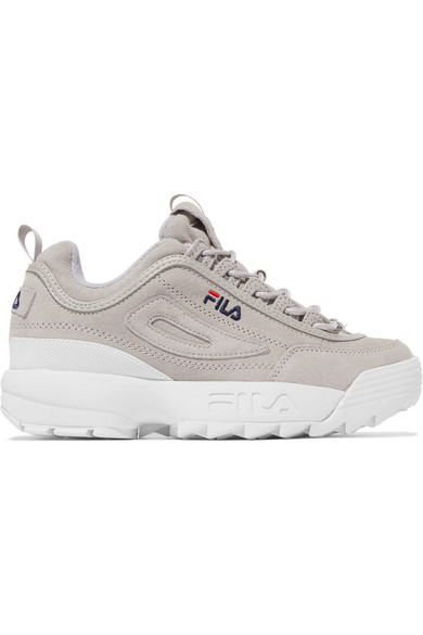 8d77b3479c8 FILA | Disruptor II Premium logo-embroidered suede sneakers | NET-A ...