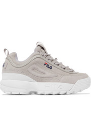FILA Disruptor II Premium logo-embroidered suede sneakers