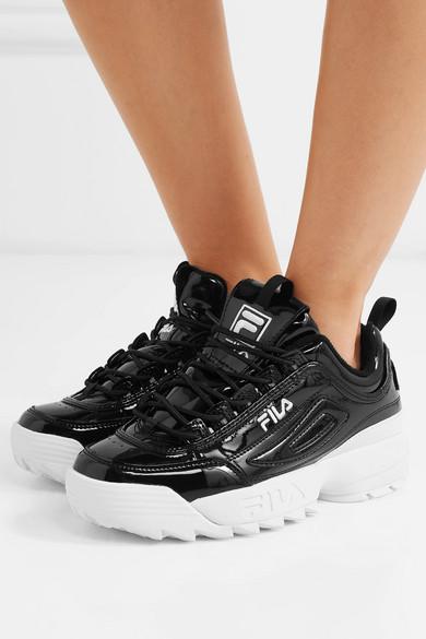 Sneakers Fila disruptor noires en cuir