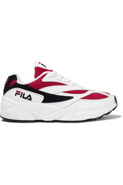 FILA Venom Low leather, suede and canvas sneakers