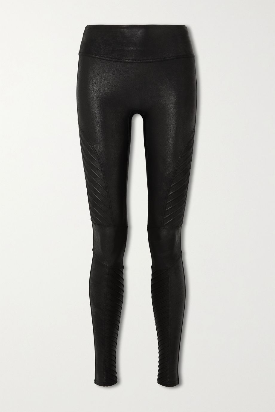 Spanx Moto faux stretch-leather leggings
