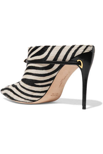 1d2e5282e0f8 Jennifer Chamandi. Alberto 105 zebra-print calf hair and leather mules.  $695 $13980% OFF. Reduced further. Zoom In