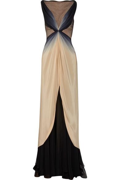 Zac Posen Ombré Silk Gown
