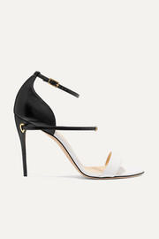Rolando two-tone leather sandals