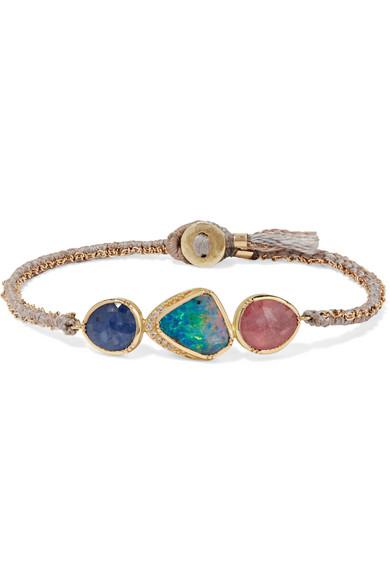 BROOKE GREGSON Triple Orbit 18-karat gold multi-stone bracelet