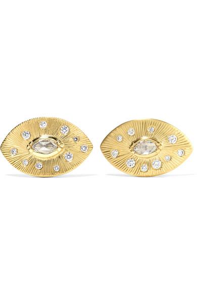 BROOKE GREGSON Talisman 18-karat gold diamond earrings