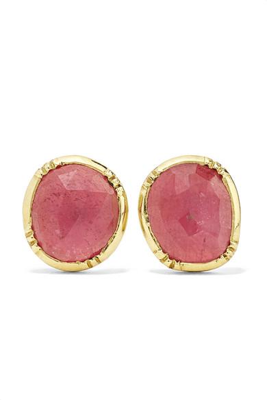 BROOKE GREGSON Orbit 18-Karat Gold Sapphire Earrings
