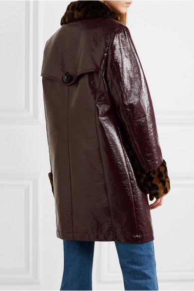 McQ Alexander McQueen. Manteau en coton enduit à finitions en fourrure  synthétique imprimée léopard. €625. Play 98eac89cf84