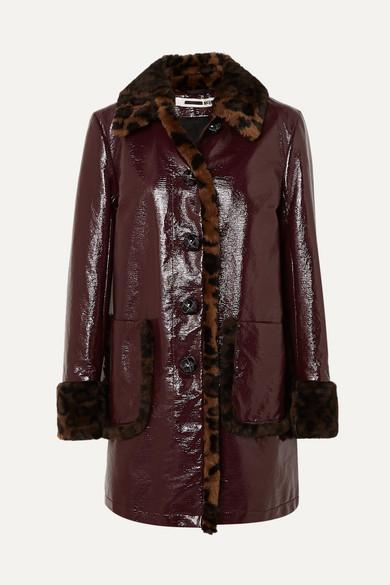 McQ Alexander McQueen   Manteau en coton enduit à finitions en fourrure  synthétique imprimée léopard   NET-A-PORTER.COM 3bcaf2cd79e