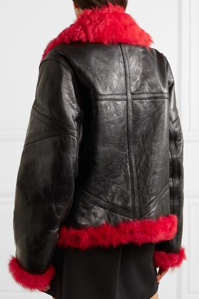 McQ Alexander McQueen Veste en peau Alexander McQueen noire